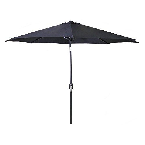 9 FT Steel Market Umbrella in Black