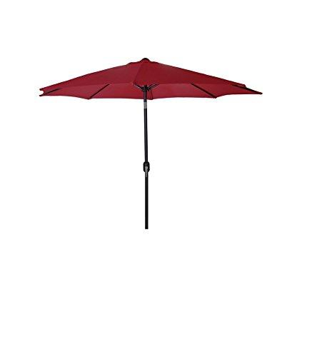9 FT Steel Market Umbrella in Burgundy