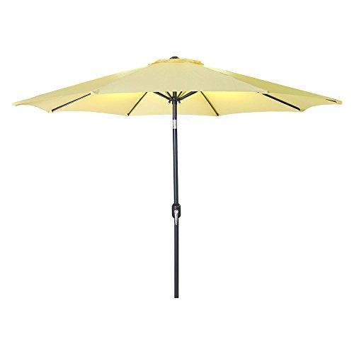 9 FT Steel Market Umbrella in Canary
