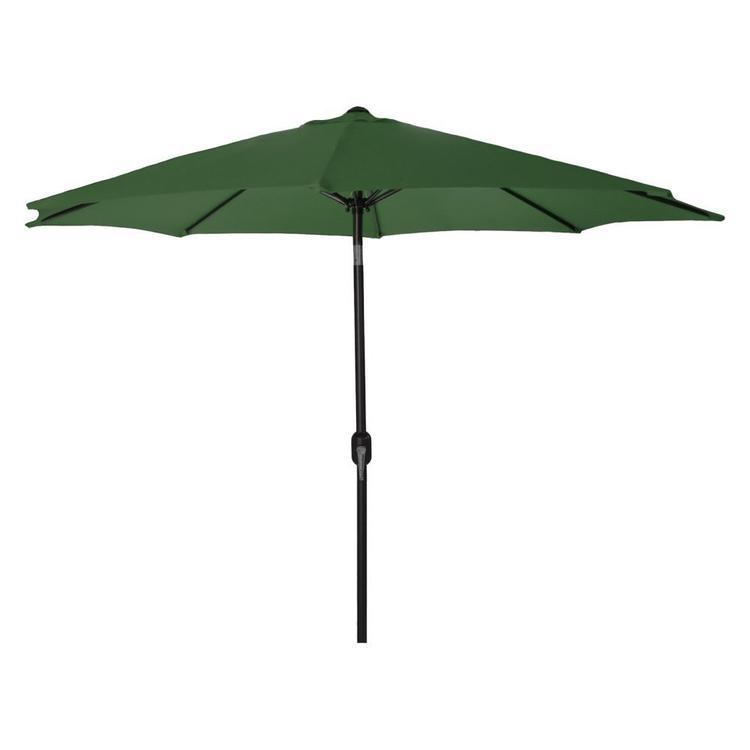 9 FT Steel Market Umbrella in Green