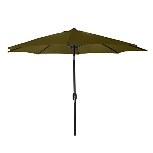 9 FT Steel Market Umbrella in Khaki