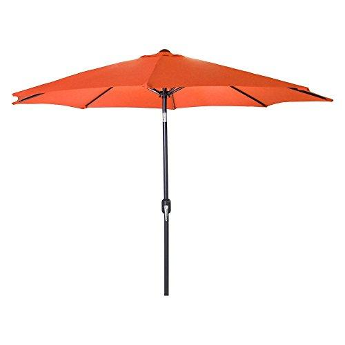 9 FT Steel Market Umbrella in Orange