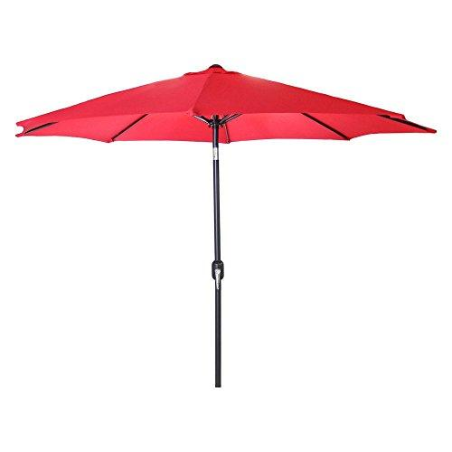 9 FT Steel Market Umbrella in Red