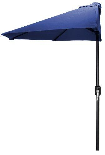 9 FT Half Umbrella in Navy
