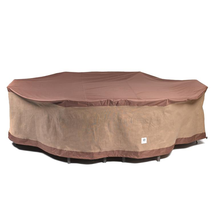 Duck Covers Ultimate 127 in. L Rectangular/Oval Patio Table with Chairs Cover