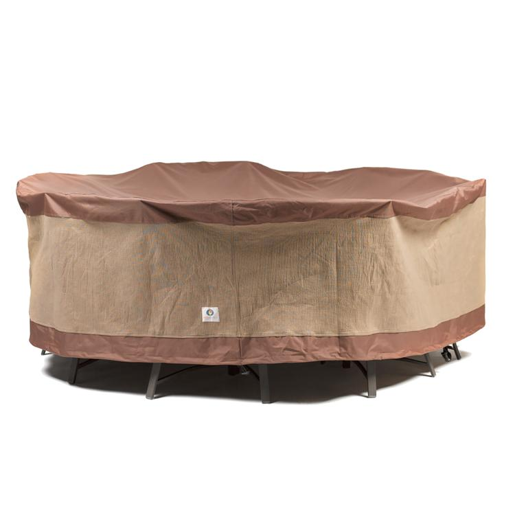 Duck Covers Ultimate 90 in. Round Patio Table with Chairs Cover