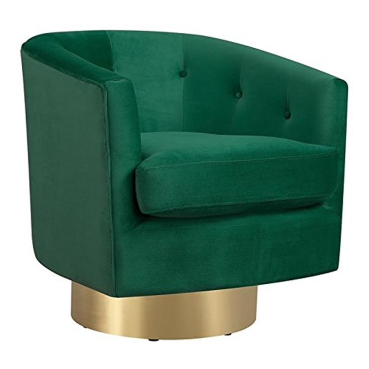 Carolina Button Tufted Swivel Accent Chair