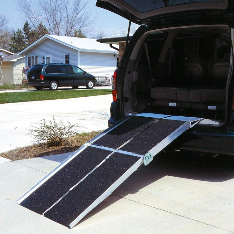 7-ft x 30-in Portable Multifold Reach Wheelchair Ramp 800 lb. Weight Capacity, Maximum 14-in Rise