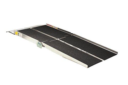 8-ft x 30-in Portable Multifold Reach Wheelchair Ramp 800 lb. Weight Capacity, Maximum 16-in Rise