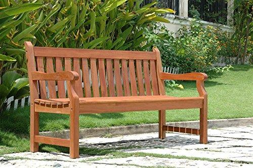 Vifah Baltic 5-foot Eucalyptus Wood Garden Bench