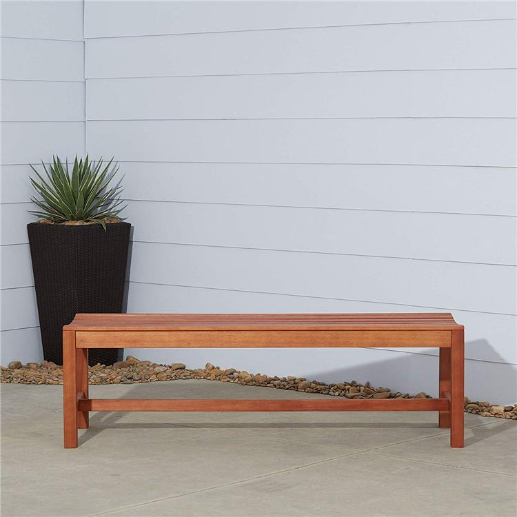 5-foot  Eucalyptus Wood Backless Bench