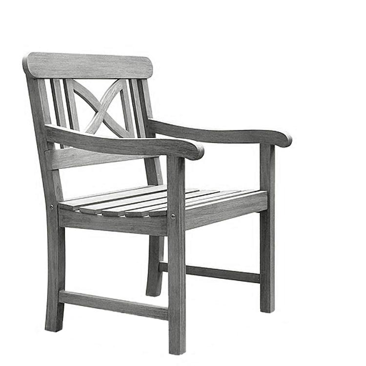 Renaissance Outdoor Hand-scraped Hardwood Arm Chair [Item # V1298]