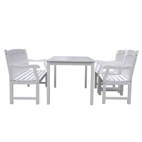Bradley Rectangular Table & Arm ChairOutdoor Wood Dining Set 10