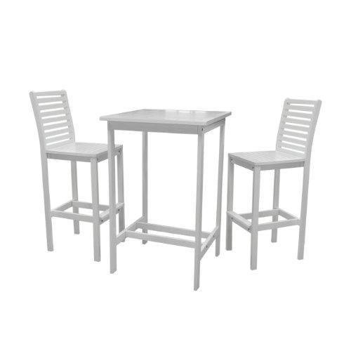 Bradley Outdoor Acacia Wood  Bar Set 2