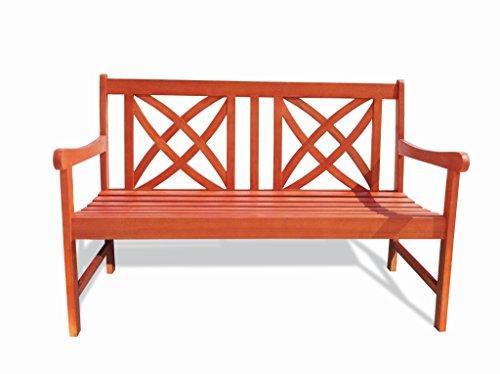 Vifah V1493 4-Foot Wood Garden Bench [Item # V1493]