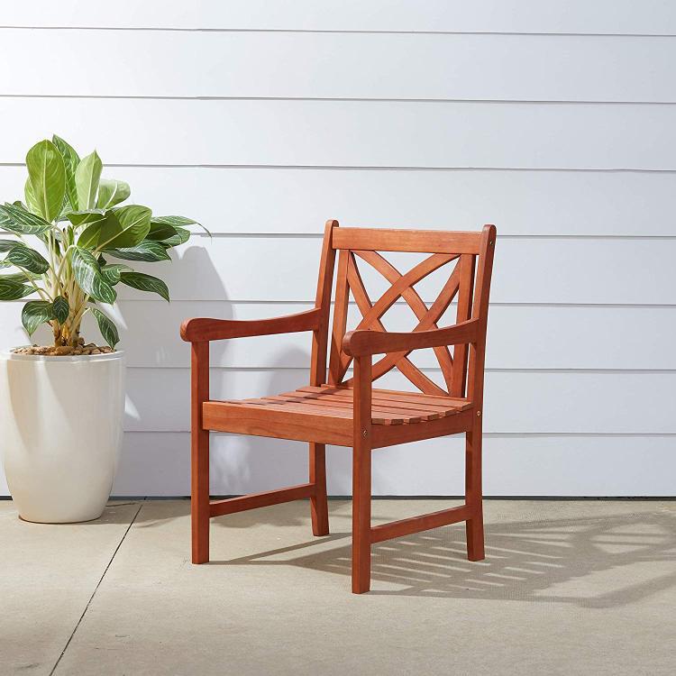 Vifah V1495 Eucalyptus Patio Arm Chair [Item # V1495]