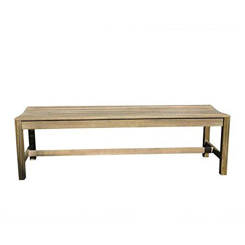 Renaissance Eco-friendly 5-foot Backless Outdoor Hand-scraped Hardwood Garden Bench [Item # V1613]