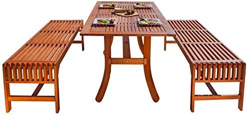 Vifah Malibu Eco-Friendly 3-Piece Dining Set