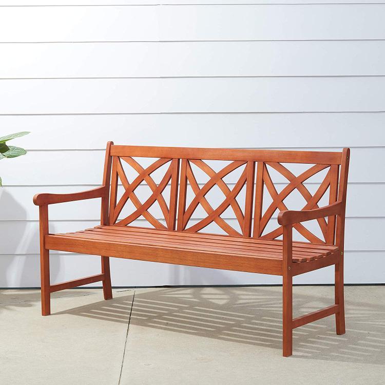 5-foot Eucalyptus Wood Garden Bench [Item # V205-1]