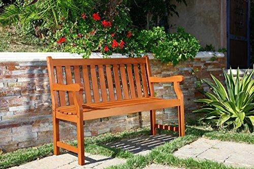 Vifah Outdoor 4-foot Henley Wood Garden Bench