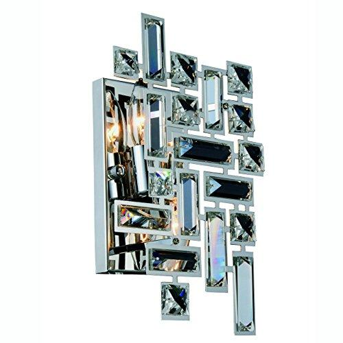 Elegant Furniture Picasso 2 light Chrome Wall Sconce Clear Royal Cut Crystal