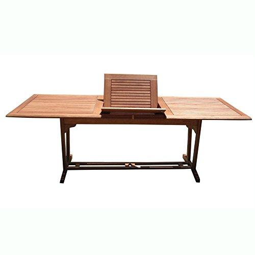 Outdoor Eucalyptus Wood Rectangular Extention Table with Foldable Butterfly [Item # V232]
