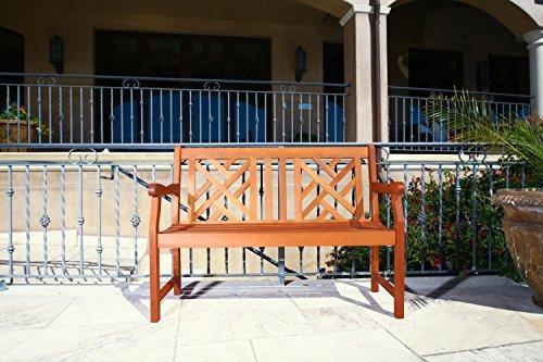 Outdoor 4-foot Wood Atlantic Bench [Item # V445E]