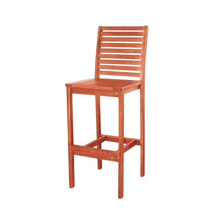 Vifah Outdoor Eucalyptus Wood Bar Chair [Item # V495]