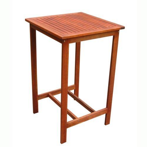 Vifah Dartmoor Eucalyptus Wood Bar Table [Item # V495T]