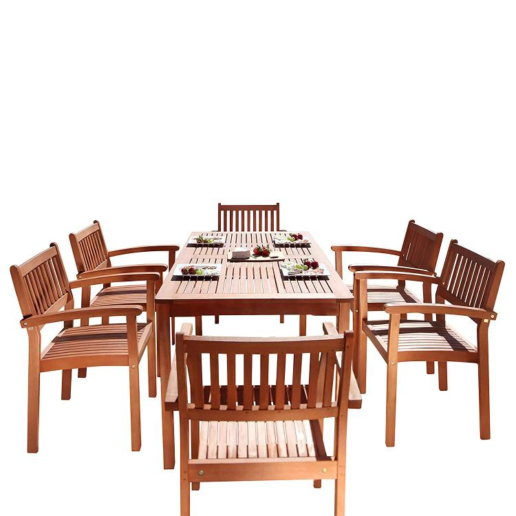 Vifah Malibu Eco-Friendly 7-Piece Dining Set