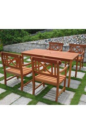 5-Piece Outdoor Eucalyptus Dining Set