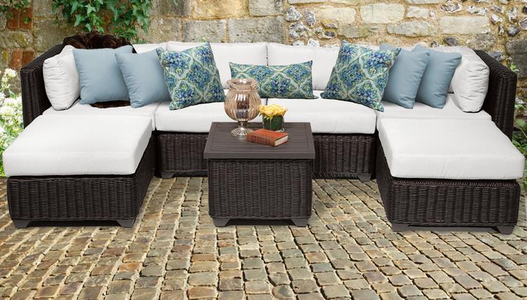 Venice 7 Piece Outdoor Wicker Patio Furniture Set 07a