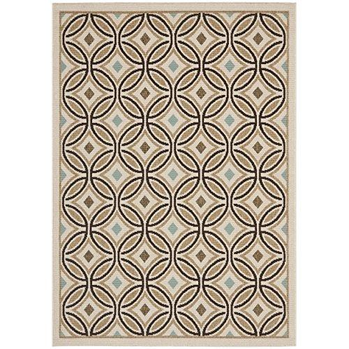 Contemporary Rug - Veranda Polypropylene -Cream/Chocolate Style-B
