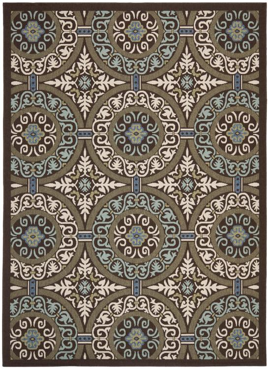 Traditional Rug - Veranda -Chocolate/Cream