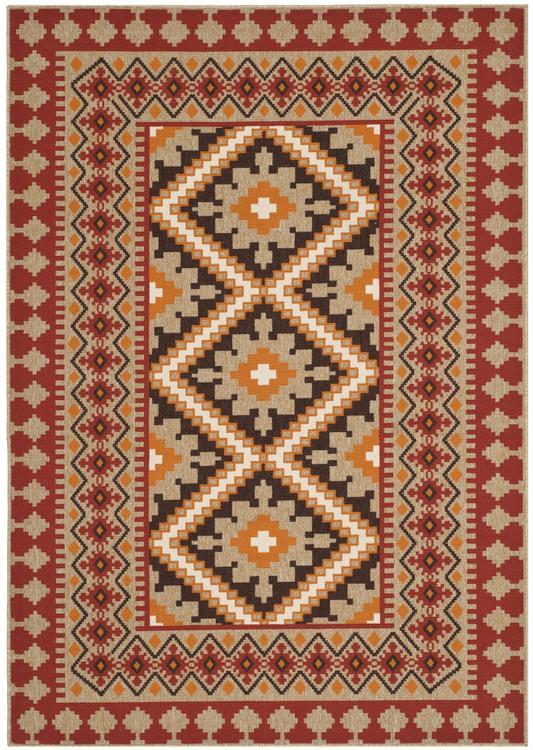 Safavieh Veranda Collection Indoor/ Outdoor Floral Area Rug