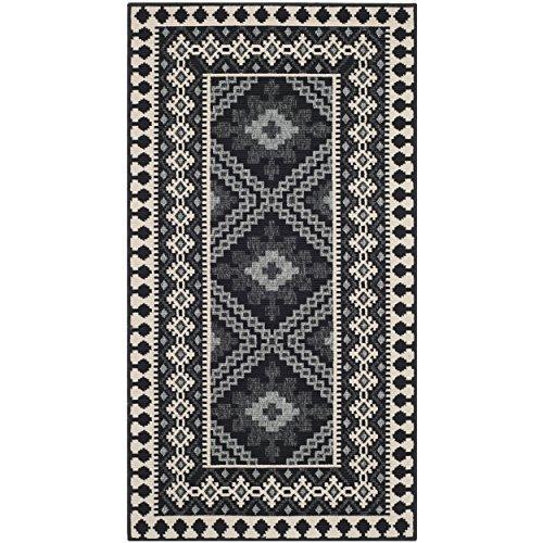 Traditional Rug - Veranda Polypropylene -Black/Creme