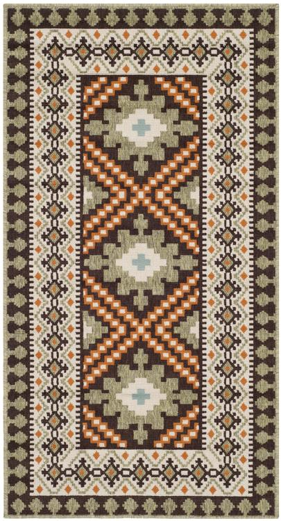 Traditional Rug - Veranda -Chocolate/Terracotta