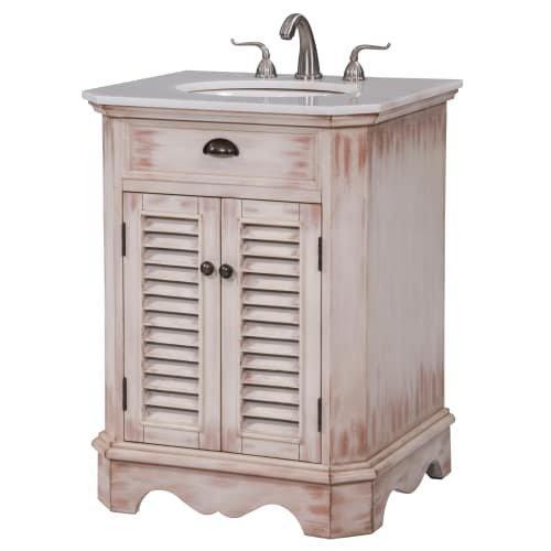 26 in. Single Bathroom Vanity set in  White Wash