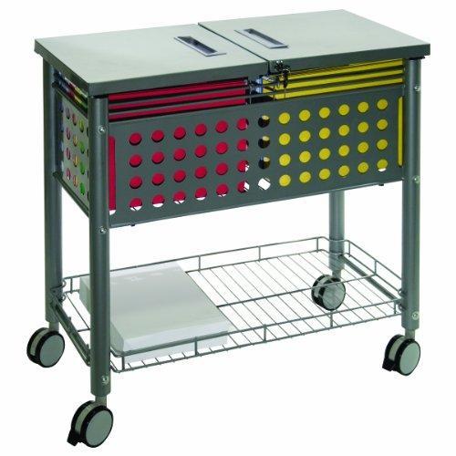 Vertiflex® File Cart with Locking Lid, Matte Gray