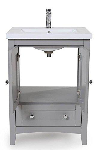 24 in. Single Bathroom Vanity set in Medium Grey