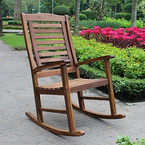 International Caravan Acacia Trinidad Porch Rocker