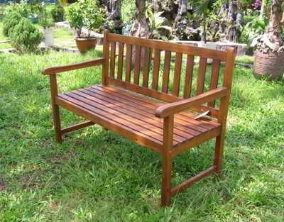 Outdoor Wood Corner Double Chair