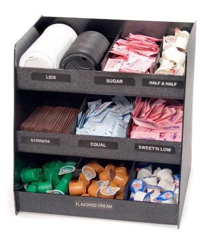 Vertiflex® Vertical Condiment Organizer, 3 Shelves, 9 Compartments, Black