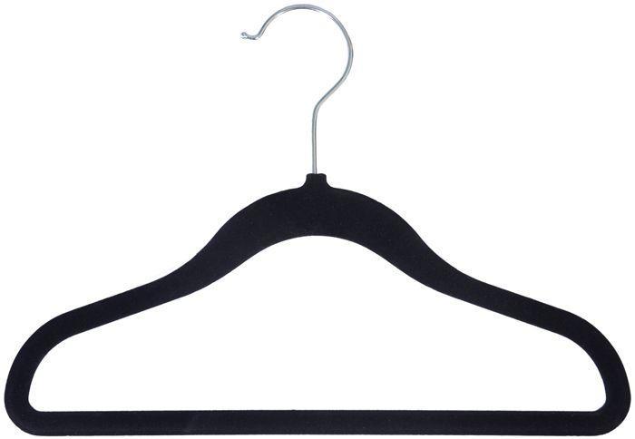 Velvet Anti-Slip Kids Hangers [Item # VLVKIDBK12]