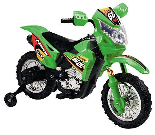 Vroom Rider VR093 Battery Operated 6V Kids Dirt Bike (Green)