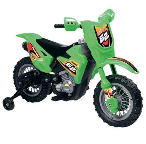 Vroom Rider VR098 6V Battery Operated Dirt Bike (Green)