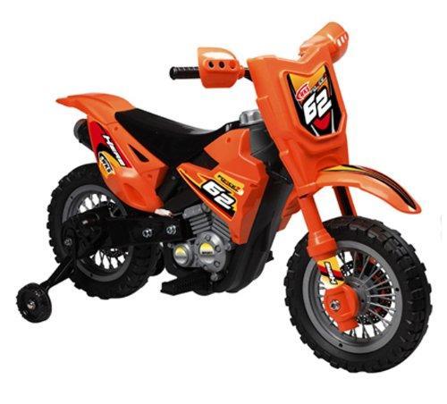 Vroom Rider VR098 Battery Operated 6V Dirt Bike (Orange)