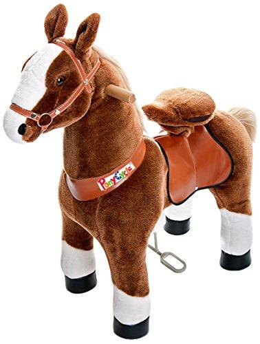 Vroom Rider x PonyCycle  Ride-On Horse for 3-5 Years Old - Small (Dark Brown)