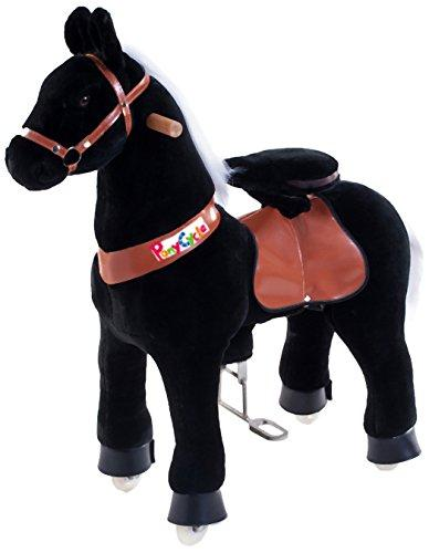 Vroom Rider x PonyCycle  Ride-On Horse for 4-9 Years Old - Medium (Black)