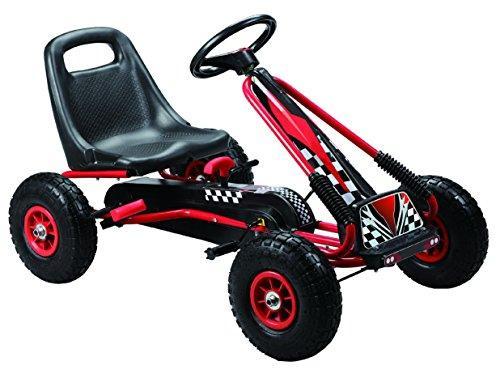 Racing Pedal Go-Kart w/ Pneumatic Tire - Black